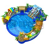 Factory sales Inflatable water trampoline park