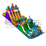 outdoor adult inflatable obstacle run
