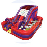 Factory pvc inflatable jumping slide