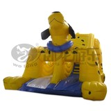 Commercial bounce round inflatable slide