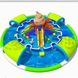 Cheap commercial summer outdoor aqua game mobile inflatable water park