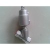 Pneumatic angle seat valve-threaded