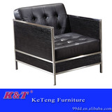 stylish comfortable leather single sofa for office