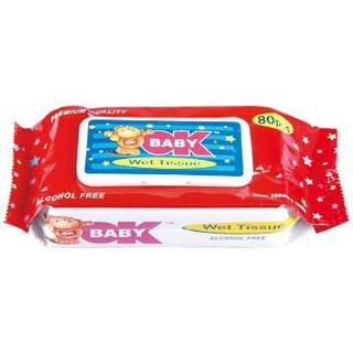80PK non-woven spunlace baby wipes with lid