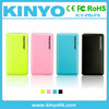 Power pack plastic leather shell double USB power bank 8000mAh