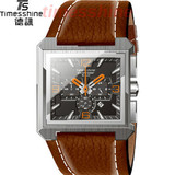 Strong waterproof men watch for 2013 ,brown leather strap wristwatch