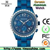fashion aluminium watch 2013,colorful patent ceramic aluminium watch