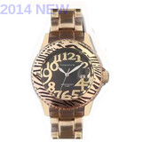 Selling 2014 leopard fashion aluminum watches