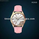 2014 wholesale perfect leather watch ,Japan movement  quartz watch