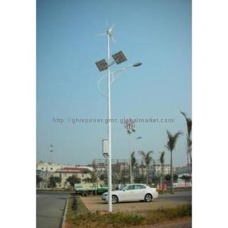 300W wind turbine, wind & Solar hybrid system LED Street Light
