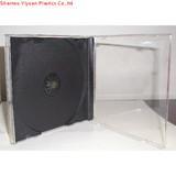 10.4mm single /double black tray jewel cd case