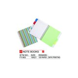 Coil Printing Note Book With 5 Index Tap