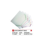 PLASTIC ELASTIC FILE/DOCUMENT BAG/FILE FOLDER