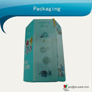 Printing PVC packaging box for toys with six sides