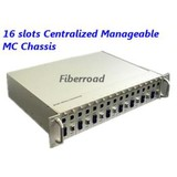 16 slots manageable media converter chassis