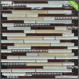 2014 hot selling resin blended glass mosaic
