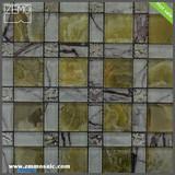 Shanghai mosaic supplier quality design crystal marble tile mosaic backsplash for kitchen China professional manufacturer
