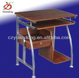 Modern Compact Steel Wooden Computer Table Furniture