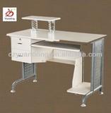 White Steel Wooden Office Computer Desk