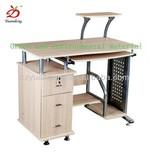 Edge Gray Rubber Particle Board Computer Desk