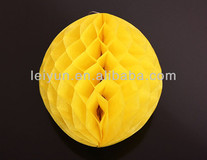 No. crescent turned yellow paper flower ball Party site layout essential goods