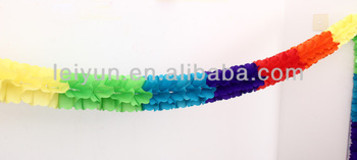 Colorful paper garland Wedding new house decorated wedding birthday party supplies