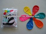 colorful Christmas decoration latex flat balloon