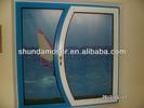 customized special shape wood with aluminium cladding window