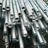 BS1387 Threaded end hot galvanized steel pipe