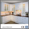 glaze white kitchen cabinets made with PVC