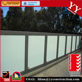 Aluminium profile toughened glass balustrade tempered glass