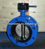 """3"""" AWWA C504 flanged butterfly valve manual worm gear CF8M flange butterfly valve"""