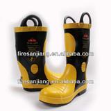 Steel midsole Steel cap CE certificate Fire fighting boot for firefighting