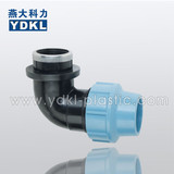 pp compression fittings 90 degree Elbow female take off for pe pipe