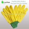 yellow fleece work gloves