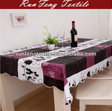 2014 new flower printing PVC table cloth