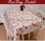 plastic table clothes flower printing home textile