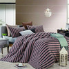 Stripe design Knitted flexible life comfort 100% cotton fabric bed sheets/cover set manufacturers in China