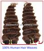 wholesale brazilian deep wave remy hair weaves
