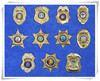Custom Made Metal Police Button Badges