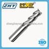 3 Flutes Uncoated Aluminum Carbide End Milling Cutter