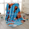 Polyester Baby Blanket Wholesale Cheap Cartoon Teddy Bear Printed