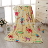 Colourful Animal Printed Coral Fleece Baby Blanket Wholesale