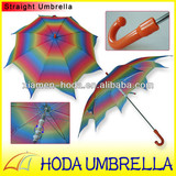 23inches Colorful Polygonal Rotatable Pinwheel Straight Umbrella