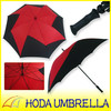 Windmill Manual Open Silk Print Golf Umbrella with Mechanism Unique Frame