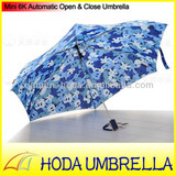 Minature figured light and handy 6K automatic folding umbrella