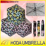 3-fold flower patterned umbrella with UV protection