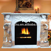 Carved Stone Fireplace For Indoor Decoration