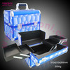 new fashion cases aluminum cosmetic blue color case fashion style makeup case