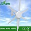 100W 6 Blades Small Wind Turbine